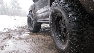 Hummer H3 Off Road Overland Adventure in Mud and Snow Muskoka Canada