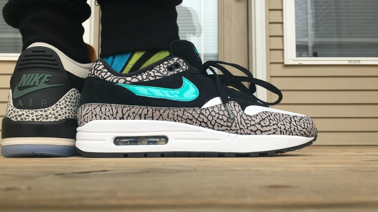 AIR MAX 1 ATMOS   AIR JORDAN 3 MAX PACK ON FOOT LOOK!!!! - YouTube 1541ea0c0