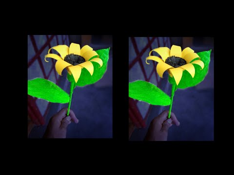 How To Make Flower With Paper