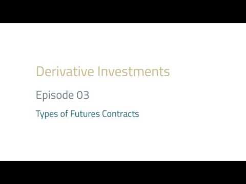 CFA level 1, Derivative Investments: Types of Futures Contracts