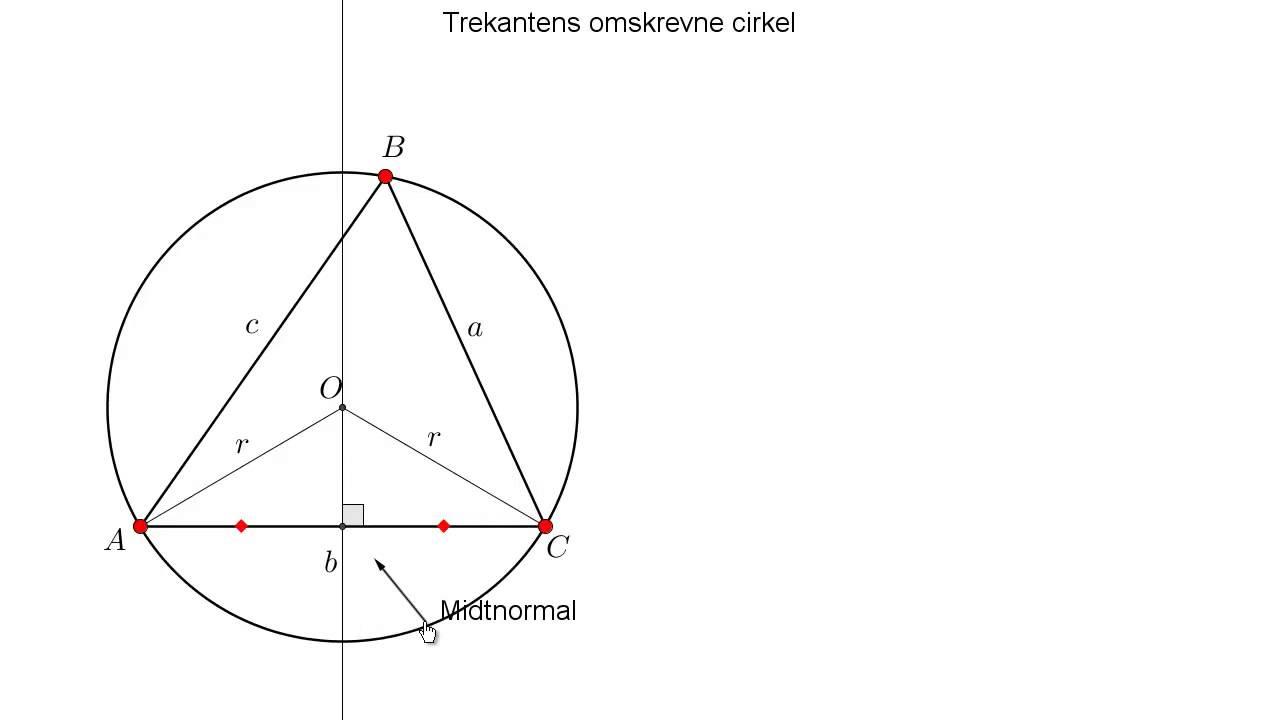 Trekantens omskrevne cirkel