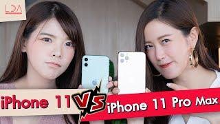 ซื้ออะไรดี? iPhone 11 VS iPhone 11 Pro Max ใช้จริงแล้วเป็นไง! | LDA เฟื่องลดา