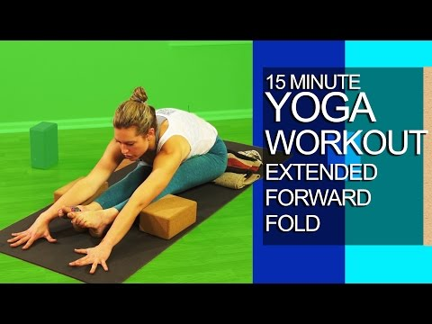 15 Minute Yoga Workout Extended Forward Fold