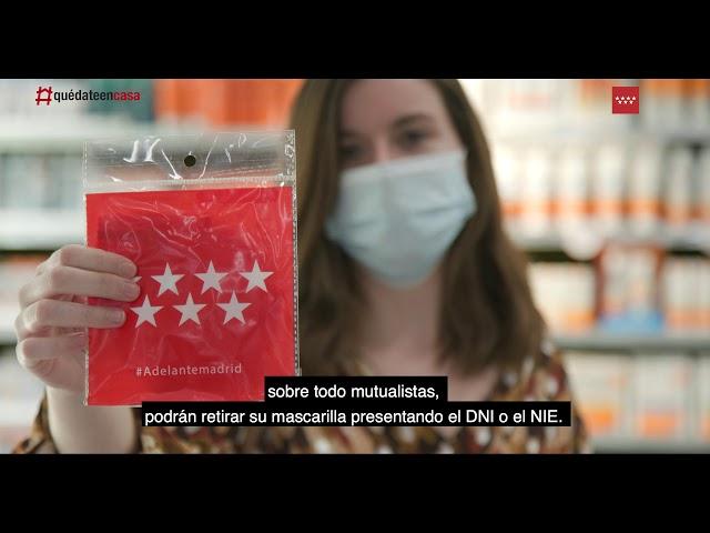 Desde mañana lunes 11 de mayo estarán las mascarillas en todas las farmacias de la Comunidad Madrid