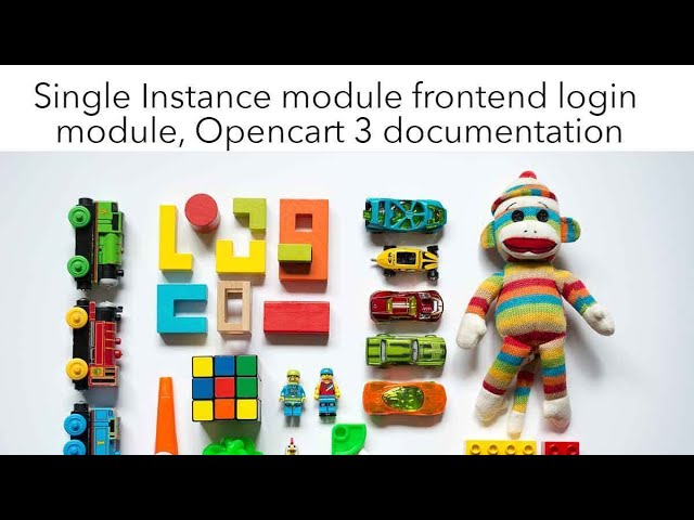 Opencart module development tutorial Single Instance module front-end login module documentation