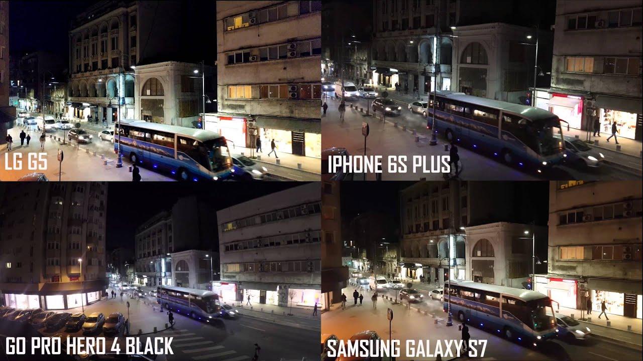 Samsung galaxy s7 vs lg g5 vs apple iphone 6s vs samsung galaxy s6 - Lg G5 Galaxy S7 Iphone 6s Plus Gopro Hero 4 Black 4k Uhd Video Test Www Buhnici Ro Youtube