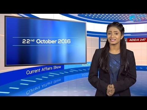 The Current Affairs Show 22nd October 2016 English for IBPS, RBI & Other Exams