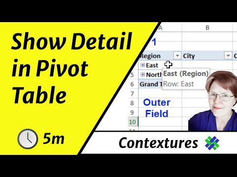 Expand and Collapse Details in an Excel Pivot Table