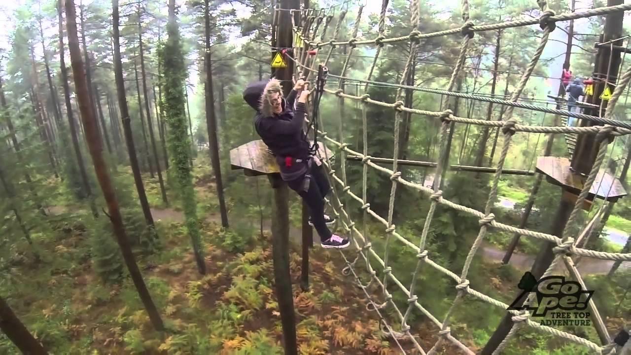 Go Ape Haldon Forest Tree Top Adventure Gopro Youtube