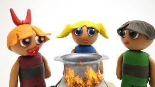 Bubbles the Powerpuff Girls Make Baby Sisters Superheroes Stop Motion Kids Cartoon