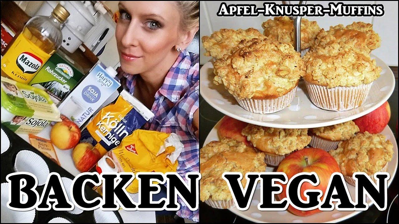 backen vegan apfel knusper muffins youtube. Black Bedroom Furniture Sets. Home Design Ideas