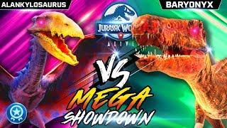 ALANKYLOSAURUS vs BARYONYX MEGA SHOWDOWN! 【Jurassic World Alive 侏羅紀世界Alive】