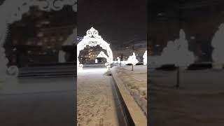 Смотреть видео Москва.Ночь.Большой театр.Снег.2019. онлайн