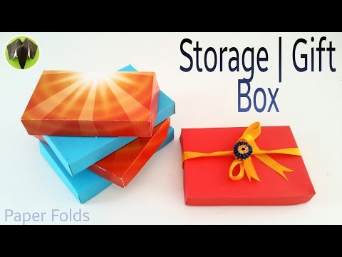 Storage | Gift Box with A4 sheet - DIY | Handmade | Tutorial by Paper Folds ❤️