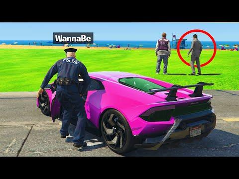 Ich KLAUE TEURE LUXUS AUTOS als FAKE POLIZIST in GTA 5 RP! 4.0