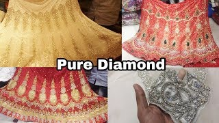 Bridal Lehenga with pure diamond wholesale & retail shop | online also