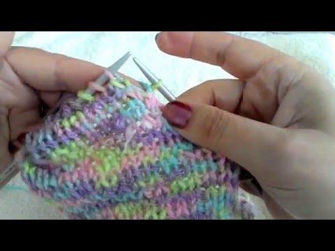 Two needle socks. Носки на 2 спицах без швов