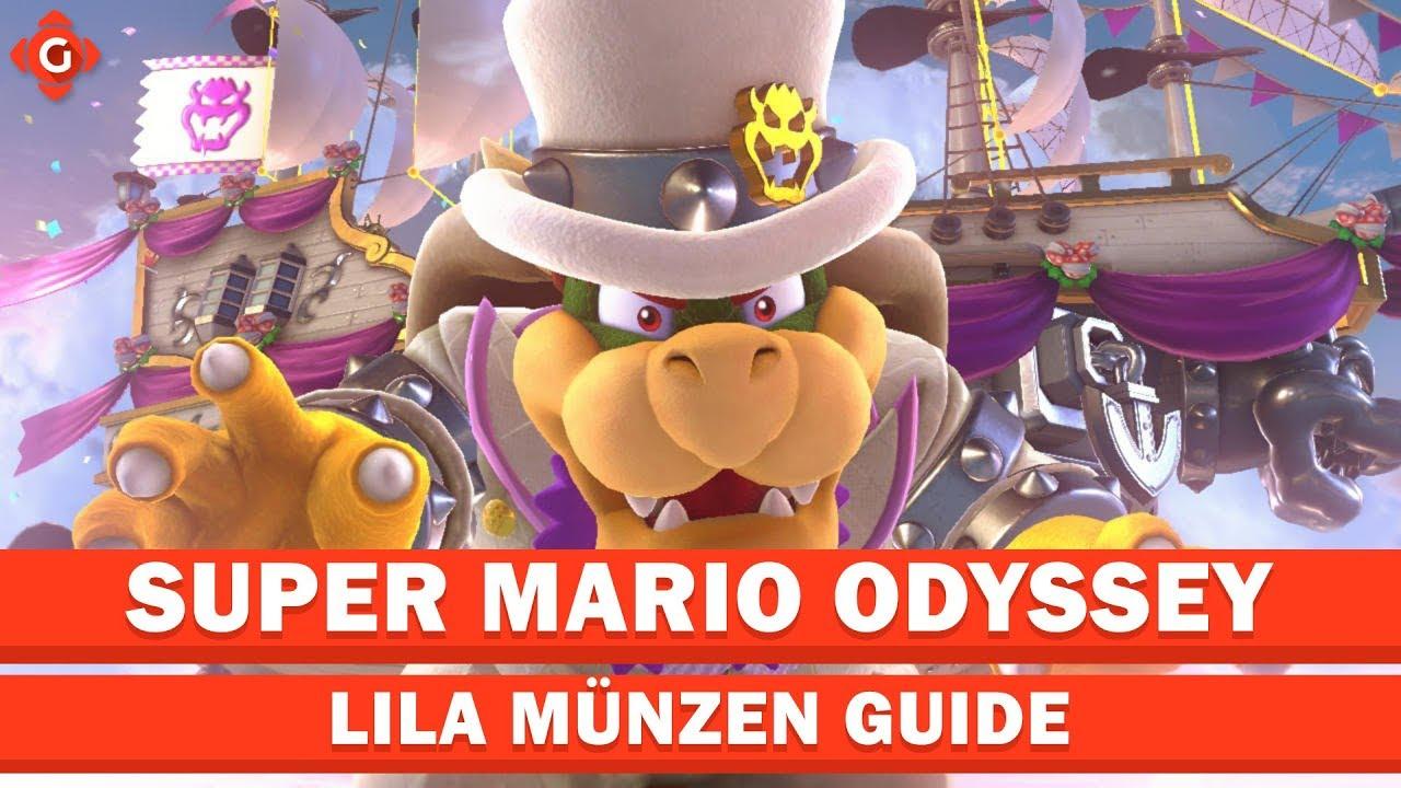 Super Mario Odyssey Alle Sammelobjekte Lila Münzen Bowsers Land