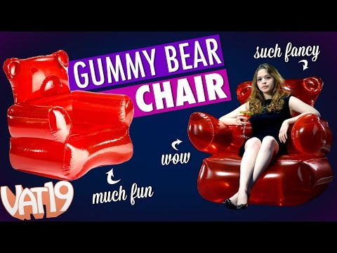 An Inflatable Gummy Bear Lounge Seat