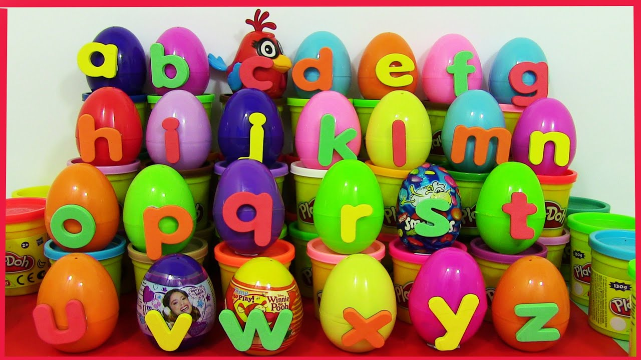 PlayDoh Alphabet Surprise eggs Learn ABC with Kinder Surprise