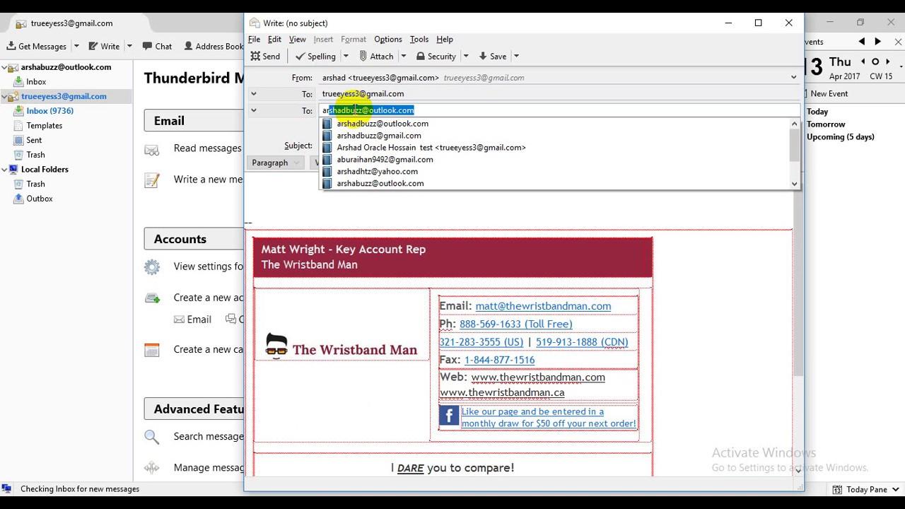 How To Setup Your Html Email Signature In Mozilla Thunderbird Youtube