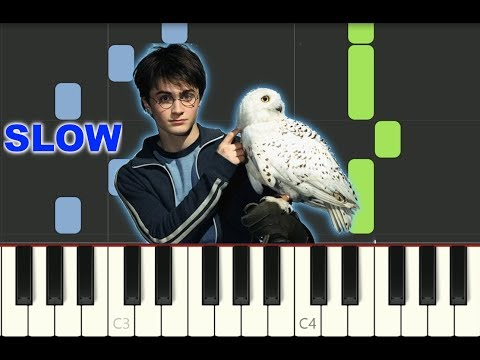 """SLOW SUPER EASY piano tutorial """"HARRY POTTER THEME"""" with free sheet music thumbnail"""
