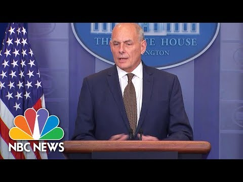 White House Chief Of Staff John Kelly: Americans Should Be Concerned About North Korea | NBC News