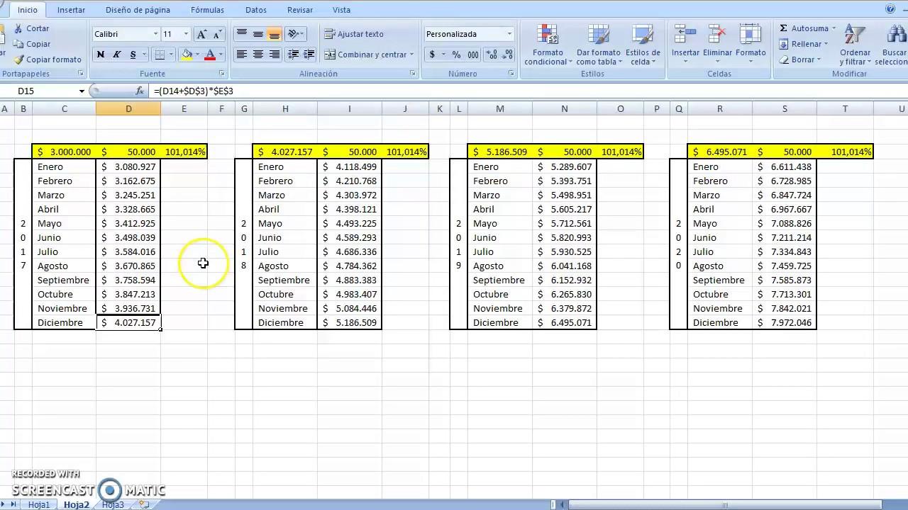 Tutorial - Calcular interés de cuenta de ahorro en Excel - YouTube