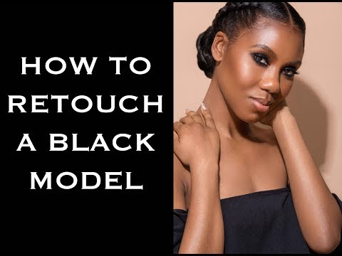 How to retouch a black model