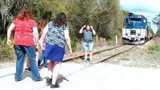 Trains Dangerous Moves Walking On Tracks Listening To Music
