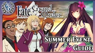 BEACH PARTY FGO NA Summer Event Guide Ft Shotgun Shogun KeiKollections Chaldea Gurus CG