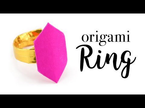 Origami Ring Tutorial - Valentine's Day DIY - Paper Kawaii