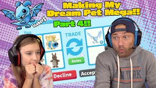 Trading Only To Make My Dream Pet A MEGA NEON FROST DRAGON! Roblox Adopt Me! *Part 4