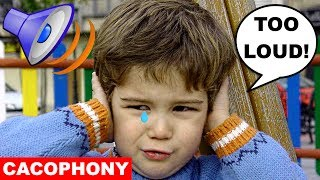 Learn English Words - CACOPHONY - Meaning, Vocabulary Lesson with Pictures and Examples