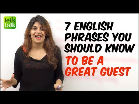 7 English Phrases You Should Know To Be A Great Guest. English Speaking Lesson | Learn English thumbnail