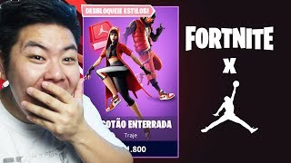 I BOUGHT THE NEW SKINS OF FORTNITE X AIR JORDAN!! * + new MTL! * | FORTNITE