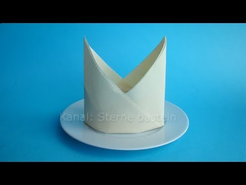 Gastro Weihnachtsdeko.Napkin Folding Bishop S Hat How To Fold Napkins For Christmas Easy Tutorial