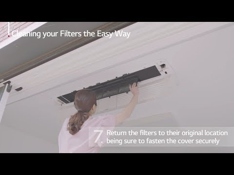 One Easy Way to Clean LG Air Conditioner Cassette Filter