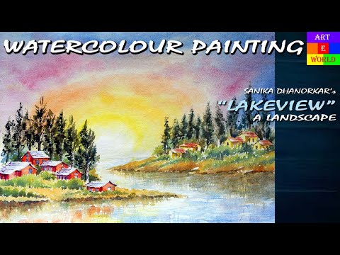 20: Watercolour Landscape-4 | Painting | Tutorial Lessons Video | beginners | techniques