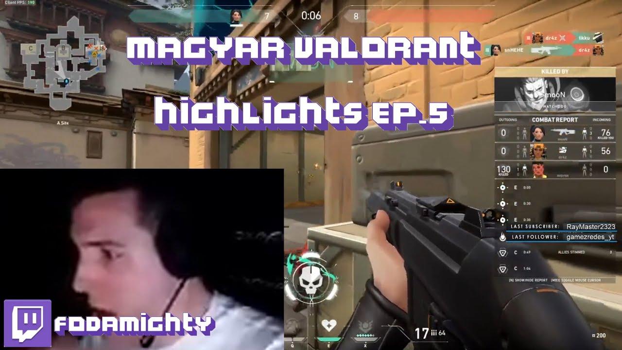 Magyar Valorant Highlights #5 (bzt,Konti,Tigene,Deadfox,KriszhAdvice,kolor)
