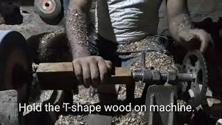 How to make wood comb tool hand in carpet making