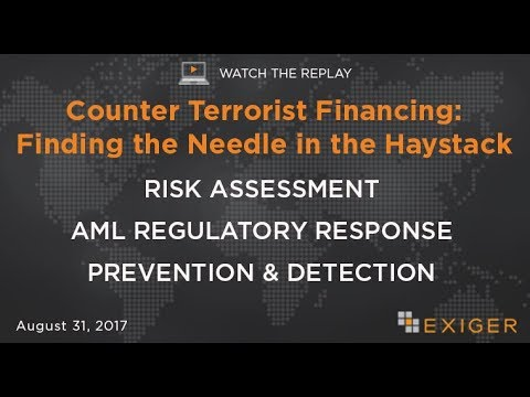 Counter Terrorist Financing: Finding the Needle in the Hayst