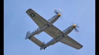 XP-82 Twin Mustang Flight Saturday 6 April 2019 at SUN 'n FUN