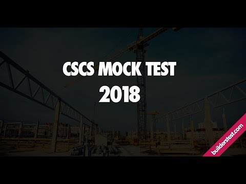 Cscs Mock Test Full Questions