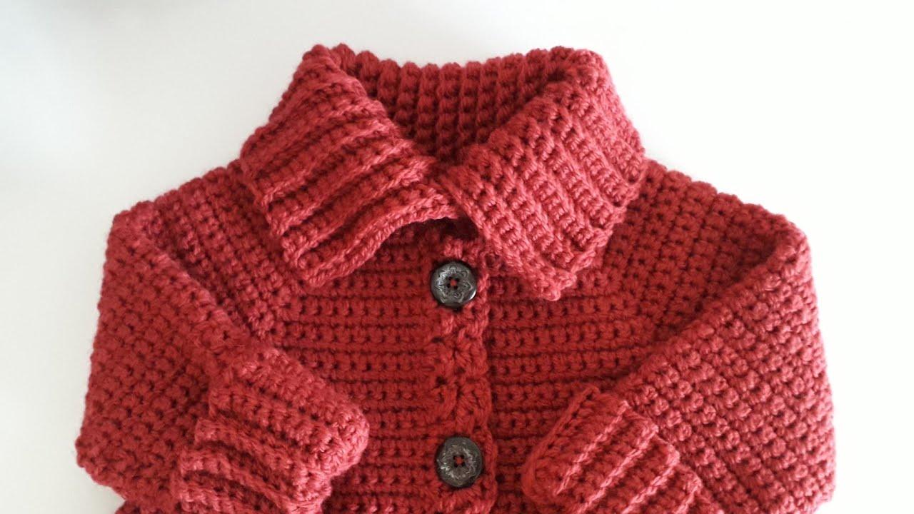 Crochet #29 How to crochet high neck coat / Part 2