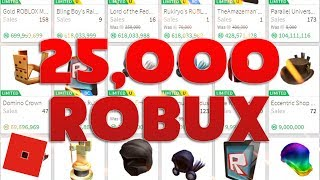 Spending 25,000 Robux on Limiteds | Roblox Trading