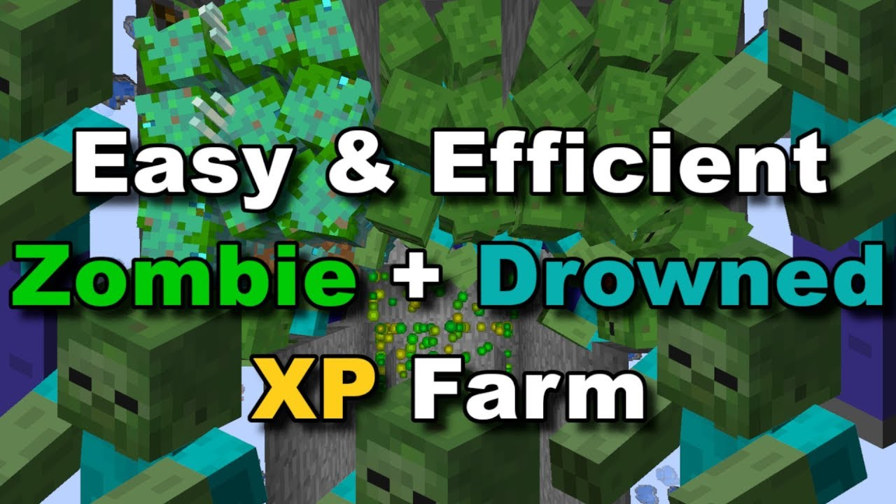 EFFICIENT) Zombie + Drowned XP Farm! (BABY ZOMBIE PROOF