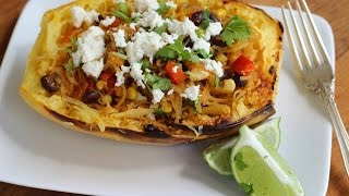 Dinner Recipe: Southwestern Style Spaghetti Squash Bowl By Cookingforbimbos.com