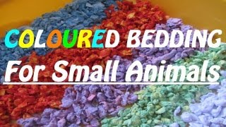 How To Make Coloured Hamster Bedding {carefresh}