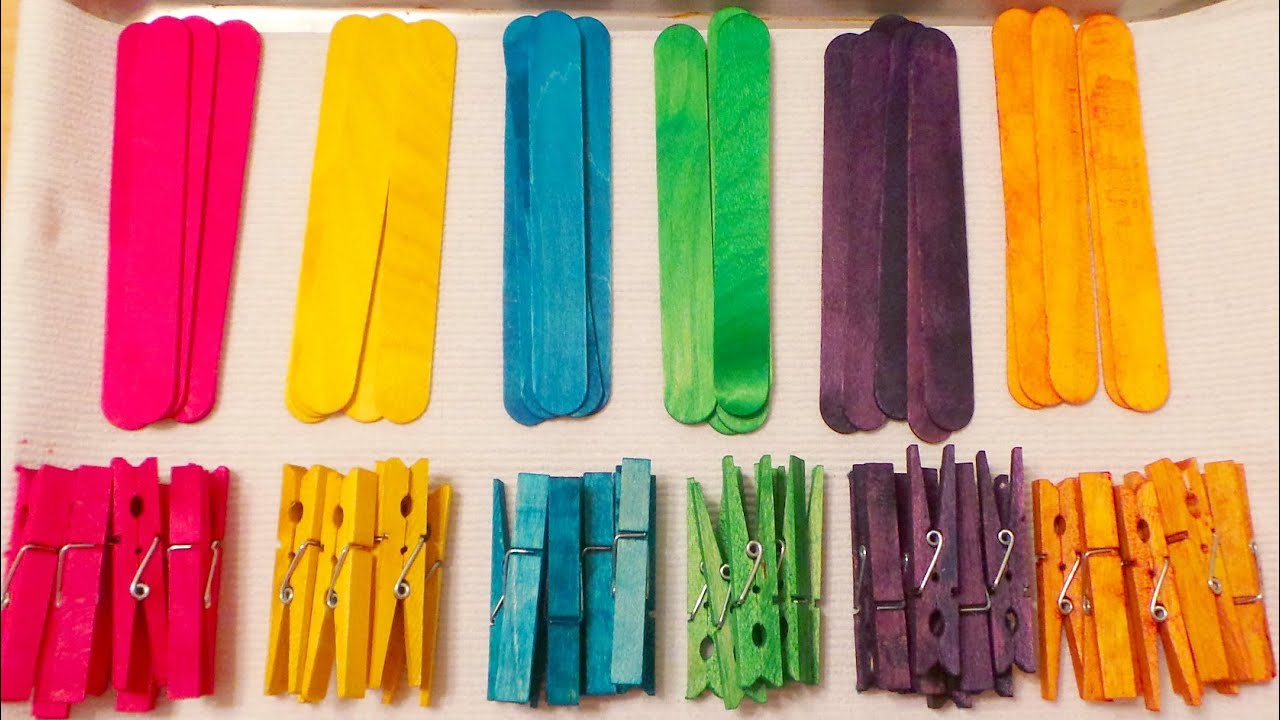 colored clothespins and craft sticks youtube